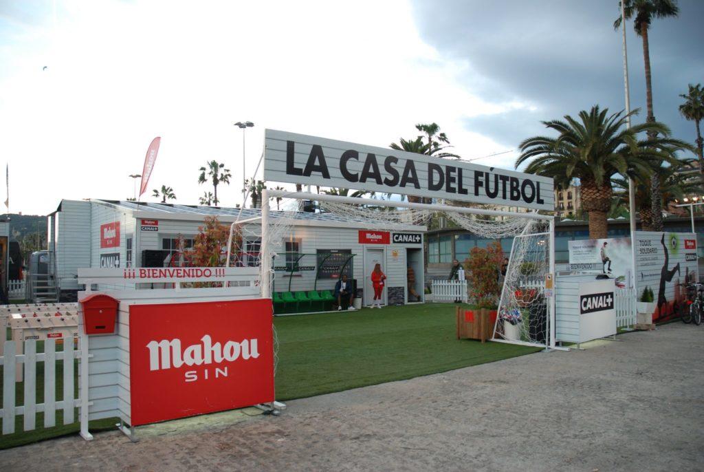 La Casa del Fútbol. Campaña de Btl para Canal+ y Mahou