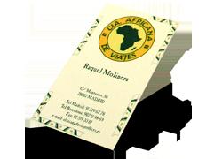 Identidad y catálogo de viajes a África